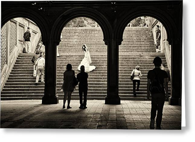 Madeline Ellis Greeting Cards - Central Park Bride Greeting Card by Madeline Ellis