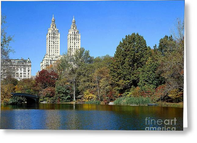 Central Park West Greeting Cards - Central Park, Nyc Greeting Card by Rafael Macia