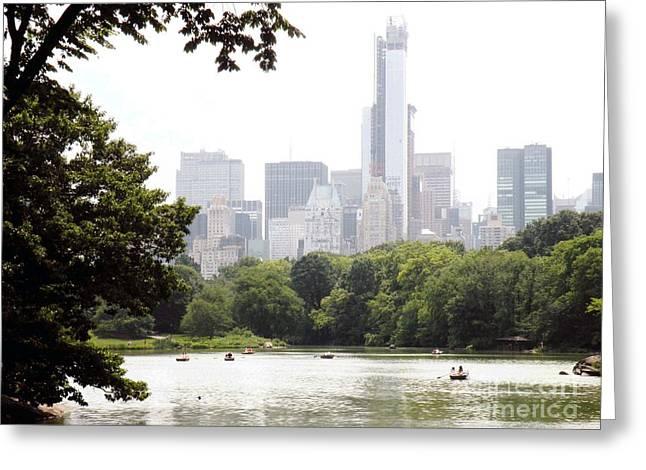 Robert Daniels Photographs Greeting Cards - Central Park Pond Greeting Card by Robert Daniels