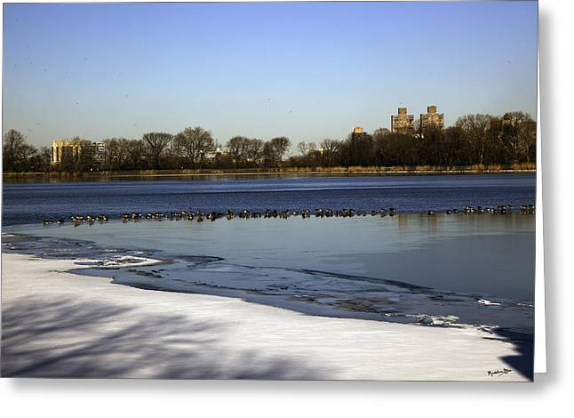 Jacqueline Kennedy Greeting Cards - Central Park Reservoir - NYC Greeting Card by Madeline Ellis