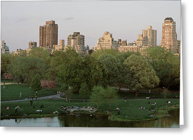 Midtown Greeting Cards - Central Park Upper East Side New York Greeting Card by Panoramic Images