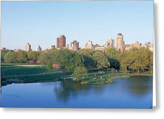 City Scenic Greeting Cards - Central Park, Upper East Side, Nyc, New Greeting Card by Panoramic Images