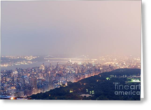 River View Greeting Cards - Central Park West Greeting Card by Ray Warren