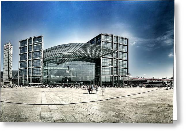 Glass Facade Greeting Cards - Central Railway Station in Berlin Greeting Card by Mountain Dreams