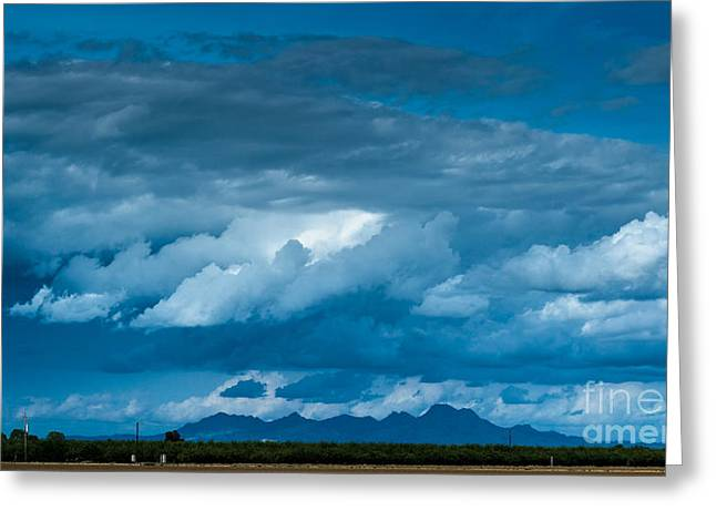 Colusa Greeting Cards - Central Valley Clouds Greeting Card by Along The Trail