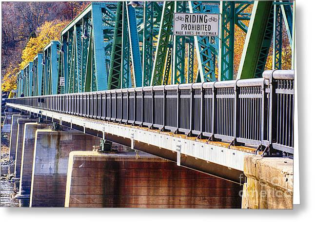 Stockton Greeting Cards - Centre Bridge Stockton Perspective Greeting Card by George Oze