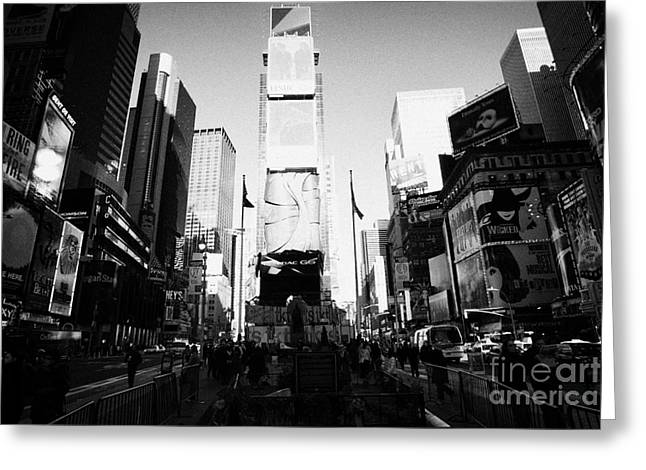 Centre Of Times Square In Daytime New York City Greeting Card by Joe Fox