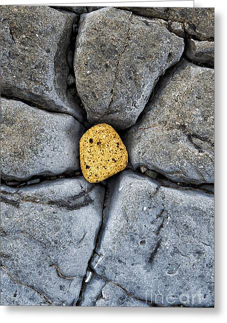 Stratum Greeting Cards - Centre Stone  Greeting Card by Tim Gainey