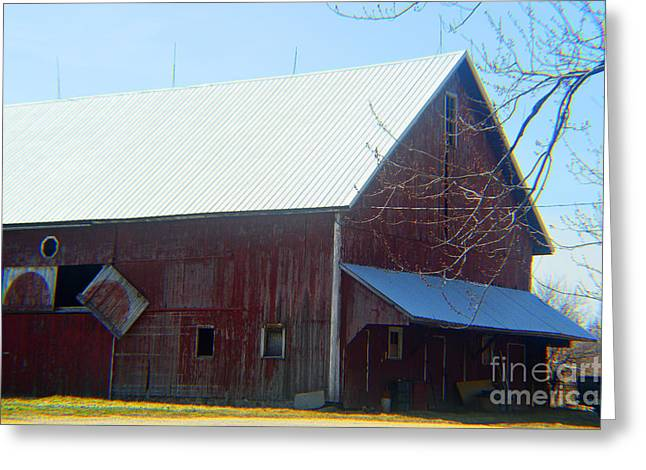 Moral Greeting Cards - Century Old Barn Greeting Card by Tina M Wenger