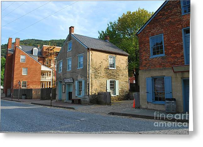 Harper Hall Greeting Cards - Century Olde Buildings In Harpers Ferry Greeting Card by Bob Sample