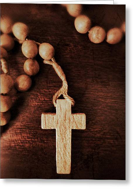 Rosary Digital Art Greeting Cards - Century Rosary Greeting Card by Patricia Januszkiewicz