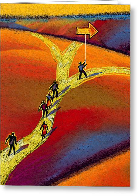 Roadway Greeting Cards - Ceo Greeting Card by Leon Zernitsky