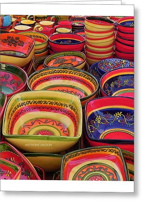 Ceramic Bowls Greeting Card by Anthony Dalton