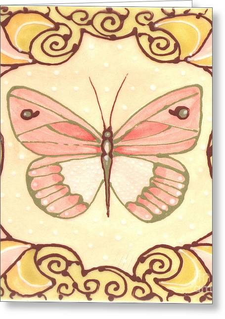 Butterflies Ceramics Greeting Cards - Ceramic Butterfly 2 Greeting Card by Anna Skaradzinska