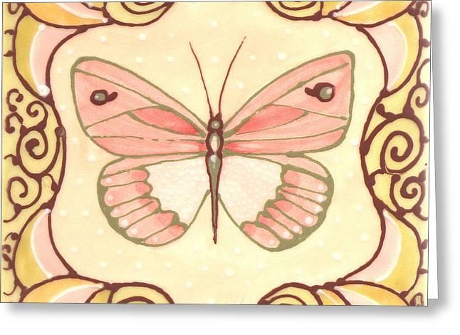 Ceramic Butterfly 2 Greeting Card by Anna Skaradzinska