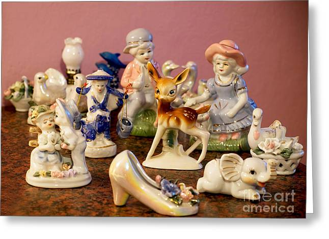Ceramic Sculpture Greeting Cards - Ceramic figurines Greeting Card by Sinisa Botas
