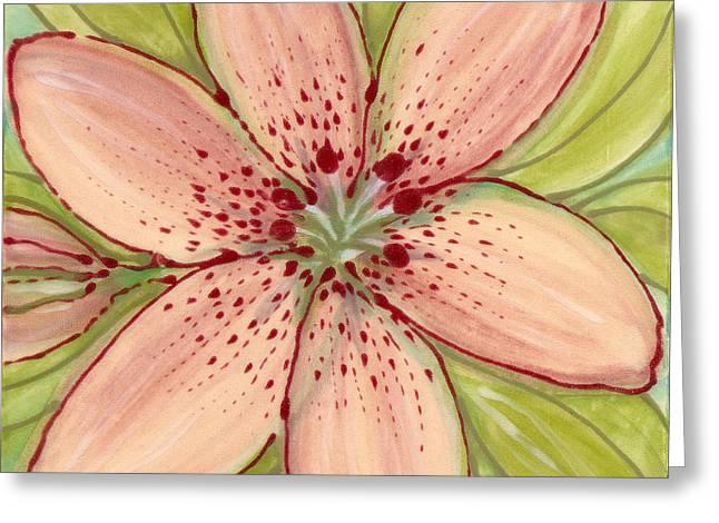 Flowers Ceramics Greeting Cards - Ceramic Flower 2 Greeting Card by Anna Skaradzinska