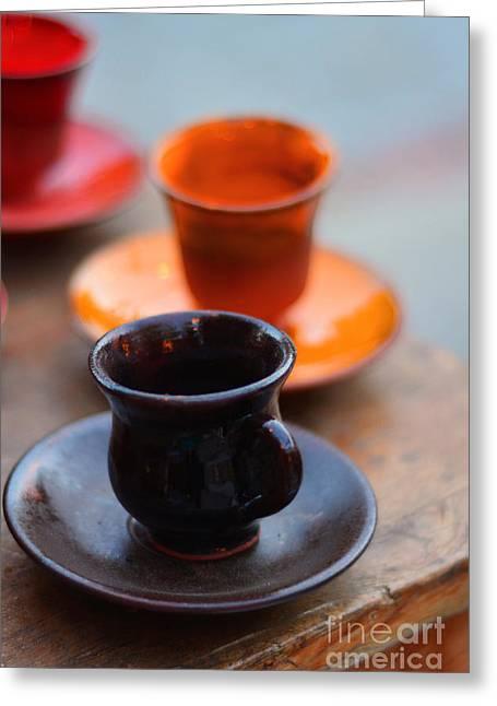 Art Decor Ceramics Greeting Cards - Ceramic Mug Greeting Card by Ezgi  Toprak