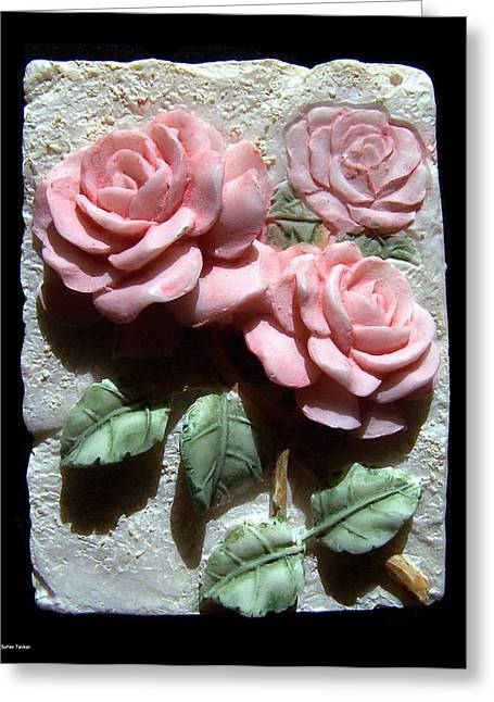 Roses Ceramics Greeting Cards - Ceramic Roses Greeting Card by Suhas Tavkar