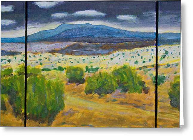Santa Fe Desert Greeting Cards - Cerrillos Spring Greeting Card by John Hansen