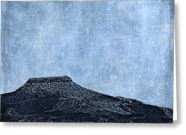 Flint Greeting Cards - Cerro Pedernal Greeting Card by Carol Leigh