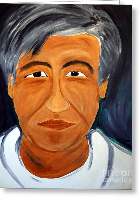 Human Rights Leader Greeting Cards - Cesar Chavez Greeting Card by Carlos Alvarado
