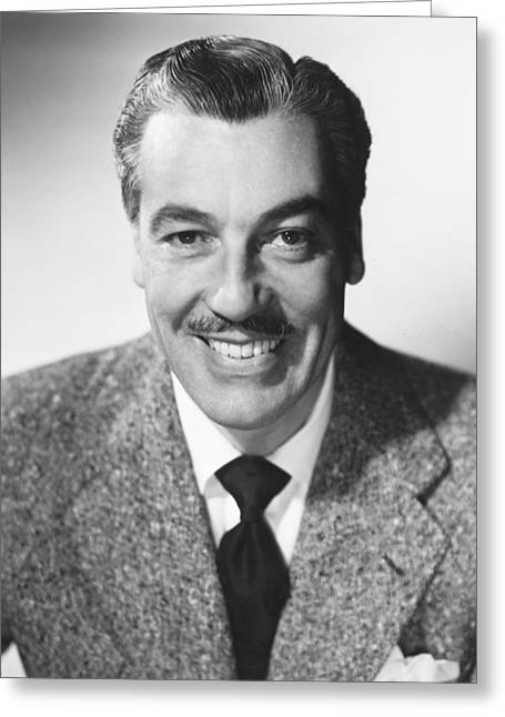 Cesar Greeting Cards - Cesar Romero Greeting Card by Silver Screen