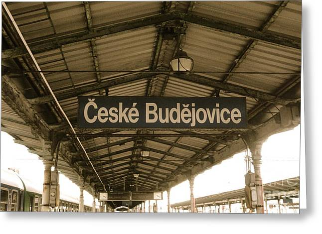 Ceske Greeting Cards - Ceske Budejovice Train Station Greeting Card by Brad Gravelle