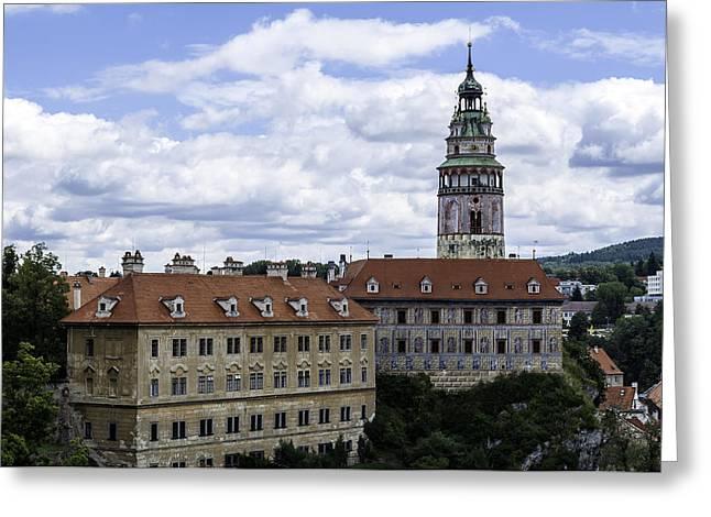 Cesky Krumlov Castle. Greeting Card by Fernando Barozza