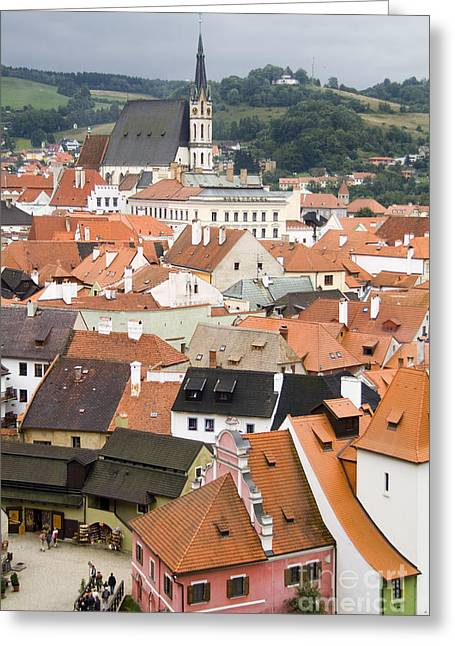 Cesky Krumlov, Czech Republic Greeting Card by Bill Bachmann