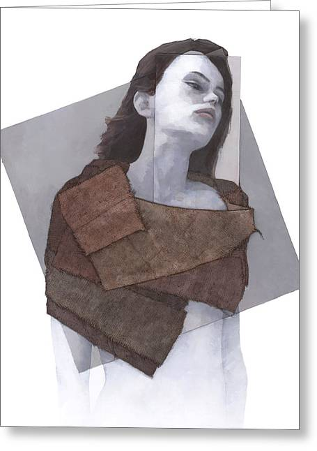 Female Figures Tapestries - Textiles Greeting Cards - Cessair Greeting Card by Steve Mitchell
