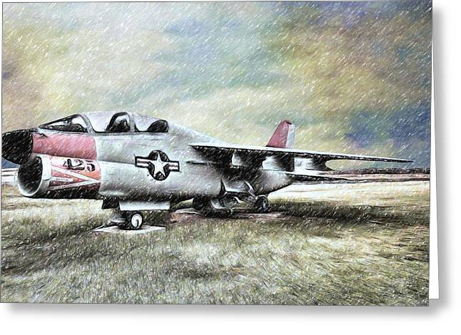 Jet Star Mixed Media Greeting Cards - Cessna 425 Jet  Greeting Card by L Wright