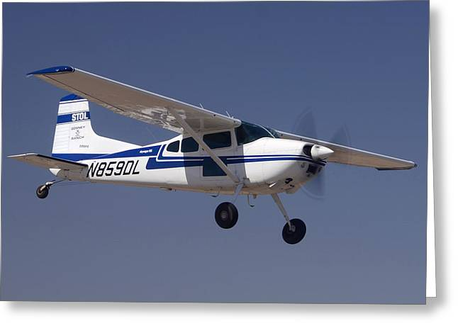 Cessna Greeting Cards - Cessna A185F N859DL Casa Grande March 3 2012 Greeting Card by Brian Lockett