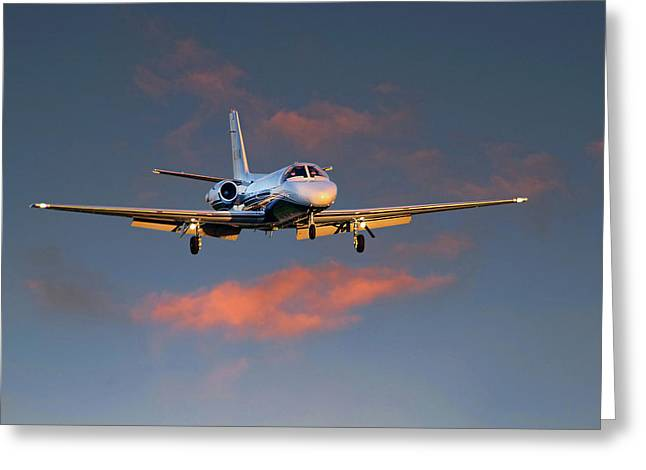 Airport Terminal Greeting Cards - Cessna Citation Greeting Card by James David Phenicie