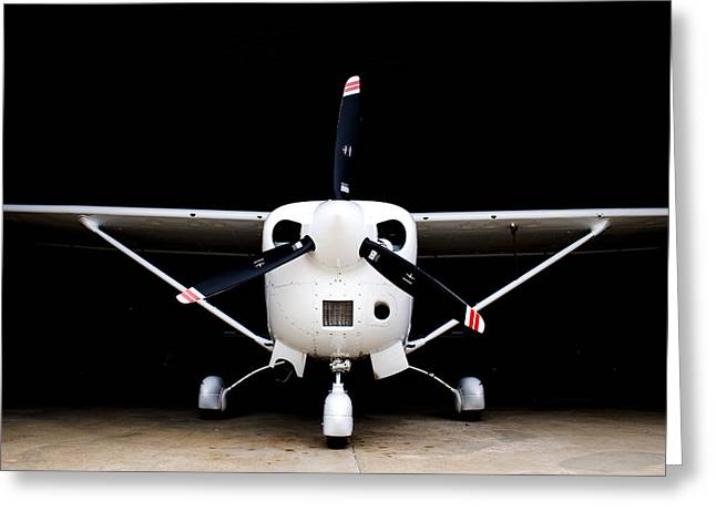 Cessna Greeting Cards - Cessna Dark Hanger Greeting Card by Paul Job