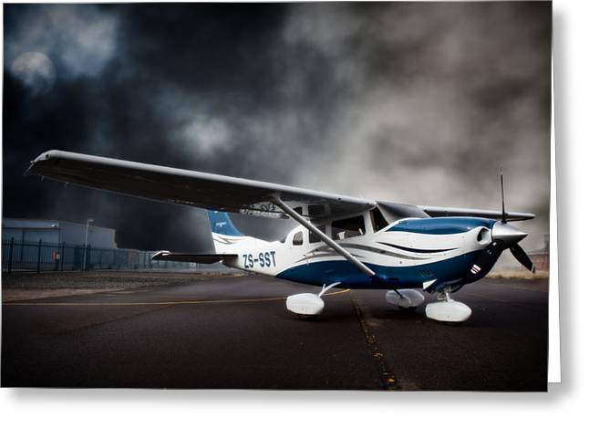 Paul Job Greeting Cards - Cessna Ground Greeting Card by Paul Job
