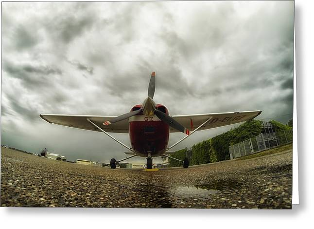 Cessna Greeting Cards - Cessna in Fisheye Greeting Card by Mountain Dreams