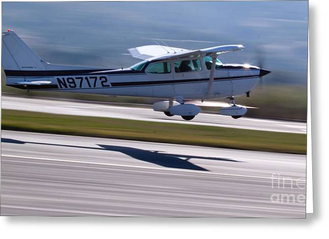 Cessna Greeting Cards - Cessna Takeoff Greeting Card by John Daly