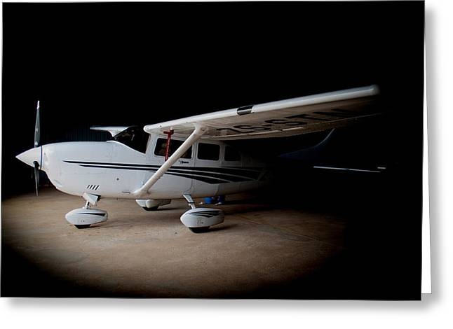 Cessna Greeting Cards - Cessna Waiting Greeting Card by Paul Job