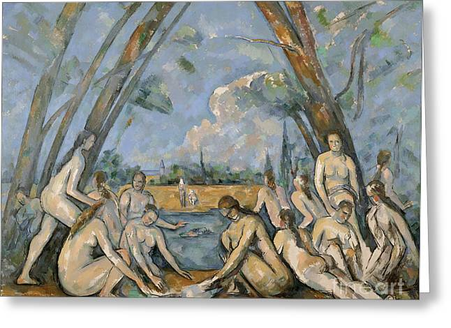Baigneuse Greeting Cards - Cezanne Baigneuses 1905 Greeting Card by Granger