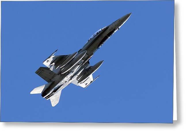 Jet Greeting Cards - CF-18 Hornet Greeting Card by Cale Best