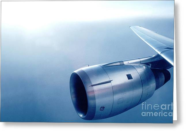 CF6-6 Jet Engine for a DC-10 Greeting Card by Wernher Krutein