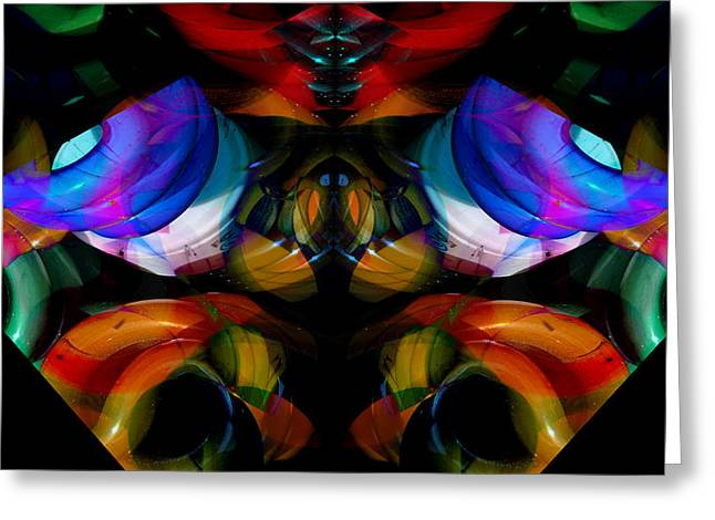 Symmetry Axis Greeting Cards - CFL Light Bulb Art - 004 Greeting Card by Jeffrey OSullivan