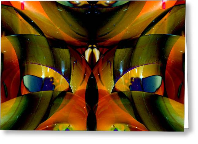 Symmetry Axis Greeting Cards - CFL Light Bulb Art - 010 Greeting Card by Jeffrey OSullivan