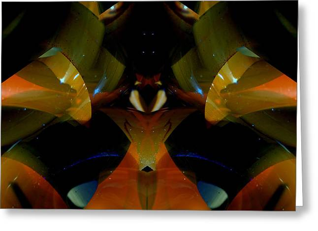 Symmetry Axis Greeting Cards - CFL Light Bulb Art - 011 Greeting Card by Jeffrey OSullivan