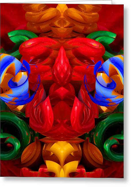 Symmetry Axis Greeting Cards - CFL Light Bulb Art - 022 Greeting Card by Jeffrey OSullivan
