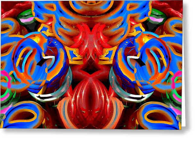 Symmetry Axis Greeting Cards - CFL Light Bulb Art - 027 Greeting Card by Jeffrey OSullivan