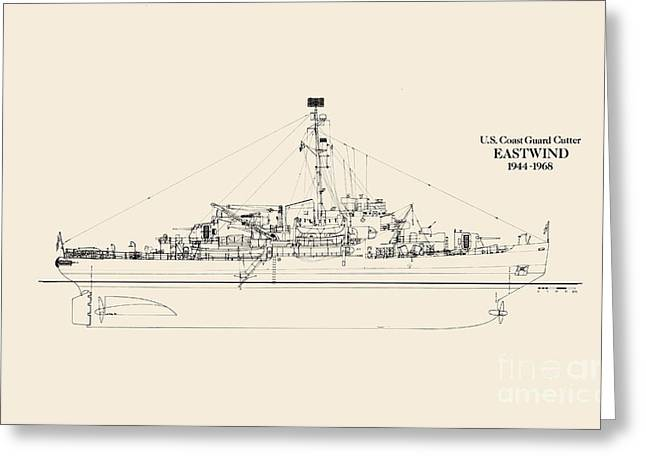 World War 2 Drawings Greeting Cards - C G C  Eastwind Greeting Card by Jerry McElroy - Public Domain Image