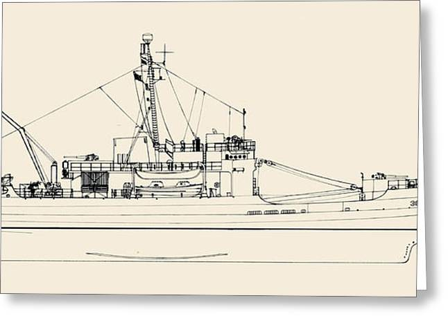 World War 2 Drawings Greeting Cards - C G C  Storis Greeting Card by Jerry McElroy - Public Domain Image