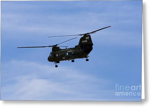 Ch-46 Greeting Cards - CH-46 Vietnam Era Paint Greeting Card by John Daly